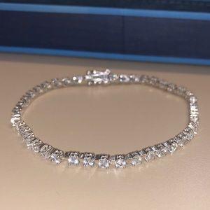 Jewelry - White Zircon 8.34CTW Sterling Silver Bracelet